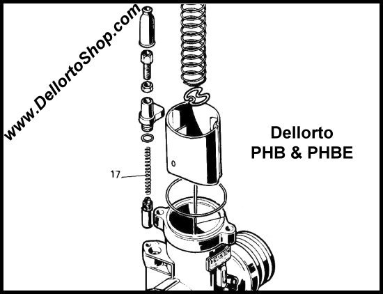 Dellorto Phb And Phbe Carburetor Parts