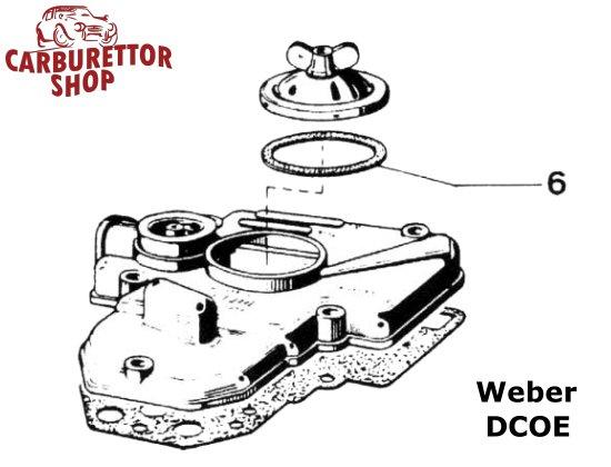 weber dcoe and dco  sp carburetor parts