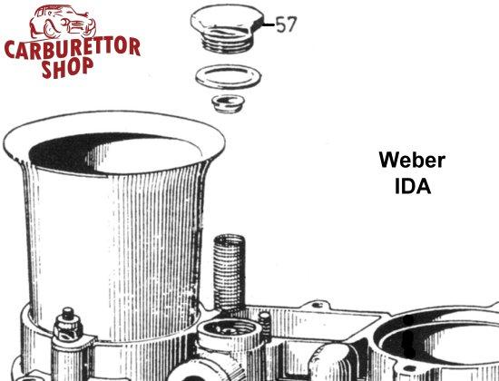 57  fuel filter cover for weber ida 2c carburetors