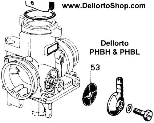 53  banjo fuel filter for dellorto phbh and phbl