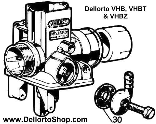30 Banjo Fuel Filter For Dellorto Vhb Vhbz And Vhbt Carburetors